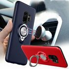 Shockproof Magnetic Case Hard Cover With Car Ring Holder Stand For Samsung Phone