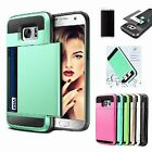 Card Pocket Wallet ShockProof Hybrid Armor Hard Case Cover For Samsung Galaxy