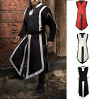 Armor Venue Medieval Renaissance Men Viking Knight Cosplay Costume Long Tops
