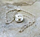 Sterling Silver Tea Cup with Tea Bag Charm on  St Silver Rolo Bracelet -  0618