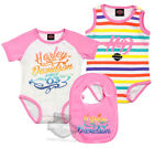 Harley-Davidson Girls Baby Twin Pack Rainbow Glitter Print Creepers with Bib $9.99 USD on eBay