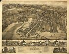 Poster Print Antique American Cities Towns States Map Essex Conn