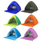 Fashion Summer Beach Tent Blue Anti-UV Automatic Pop Up Sun Protection Outdoor