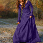 Women Medieval Vintage  Queen Long Dress Prom Ball Gown Costume  Gothic Clothing