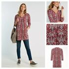 NEW WHITE STUFF TIPI PRINT JERSEY TUNIC COTTON RED PINK GREY COTTON SIZE 6 - 22