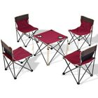 5Pcs/Set Camping Hiking Picnic Folding Table Chairs W/Carrying Bag Outdoor Patio