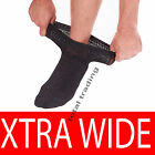 Mens Extra Wide Diabetic Socks Thicker Sports Work 3 OR12 Pairs Loose Top Oedema