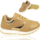 NEW GIRLS KIDS SHINNY SPORTS SCHOOL CASUAL LACE UP TRAINER RUNNING SHOES SIZE UK