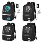 New Luminous Noctilucent Backpack USB Charging Headphone School bag Laptop Bags