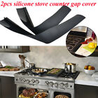 Внешний вид - 2Pcs Silicone Kitchen Stove Counter Gap Cover Oven Guard Spill Seal Filler Set