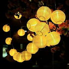 Solar Lampion Lichterkette 10 20 30 LED Garten Kette Party Laterne Lichter Solar