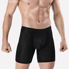 Men Boxer Briefs Shorts Long Leg Sport Underwear Silky Soft Underpants Lot M-4XL