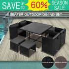Dreamo Living 9pc Outdoor Dining Furniture Set Pe Wicker Garden Table & Chairs