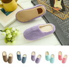 Winter Lady Candy Color Warm Home Slippers Cotton Velvet Anti-Slip Shoes Sandals