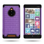 Premium Hybrid Bling Diamond Fashion Phone Cover Case for Nokia Lumia 830