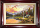 Thomas Kinkade Evening Majesty 12x18 Classic Edition Framed Canvas