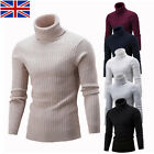 Mens Warm Turtleneck Cardigan Pullover Tops Long Sleeve Slim Knitted Sweater 32