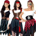 Pirate Ladies Fancy Dress Bucaneer Book Day Fairytale Womens Adults Costume New