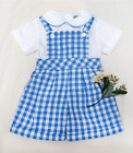 Kid Baby Boy Girl baby Gingham Overalls Clothes (Shirts&Overalls)