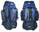 Camping Rucksack Backpack Hiking Festival Day Back Pack Bag Blue Travel 70L