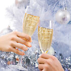 Personalised Engraved Christmas Gift Boxed Mr & Mrs Champagne Glass Flute Set