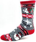 Chicago Blackhawks Hockey Gray Snowman Snowflake Crew Socks $10.99 USD on eBay