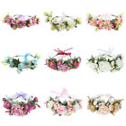 Women's Flower Crowns Wedding Bridal Hair Wreath Headband Garland Ribbon Party