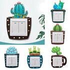 Am_ Lovely Cactus Luminous Pvc Wall Switch Sticker Living Bedroom Home Decor Opu