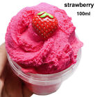Scented Strawberry Floam Sludge Fluffy Slime Mud Fruit Charm Cloud Clay