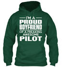 Proud Boyfriend Pilot - I'm A Of Freaking Awesome Standard College Hoodie