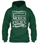 Super Cool Wife-pilot - I Never Dreamed Would Be Grow Up Standard College Hoodie