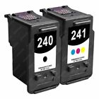 2-PACK [PG-240 - CLI-241] Black-Color Ink Cartridge Set for Canon PIXMA Printer