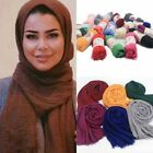 Women's Premium Viscose Maxi Crinkle Cloud Hijab Scarf Shawl Muslim Breathable