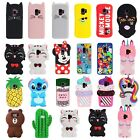 For Samsung S7 S8 S9 Plus Disney All Characters 3D Rubber Protective Case Cover