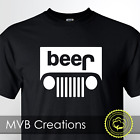 Beer Jeep Logo Parody Drinking Graphic T-Shirt Funny Parody Tee Novelty image