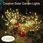 2 Pack DIY Decor Starburst Light 105 LED Solar Christmas Outdoor Landscape Light