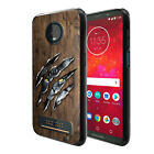 """For Motorola Moto Z3 Play 6"""" Black TPU SILICONE Soft Protective Case Phone Cover"""