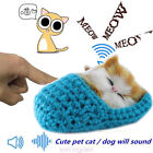 Cute Lifelike Simulation Sound Toys Plush Slipper Cat Soft Doll Baby Kids Toys