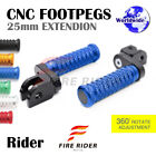 CNC 25mm Extension Front Footpegs POLE For Yamaha FZR 600 / R  89-96 90 91 92 93