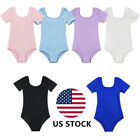 Kid Girl Gymnastics Ballet Dance Leotard Training Uniform Bodysuit Dancing Wear
