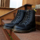 martins men boots winter military black boots men shoes leather Mid-Calf Lace-Up