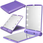 LED make-up mirror for girls folding cosmetic mirror with 8 LED Lights Lamps
