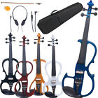 Cecilio Electric Violin Right or Left Handed Size 4/4 3/4 1/2 4 Styles 5 Colors