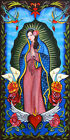 Lady of Guadalupe by Melody Smith Catholic Tattoo Artwork Framed Wall Art Print