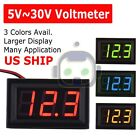 LED 12V ~ 24V Digital Display Voltmeter Car Motorcycle Voltage Gauge Panel Meter