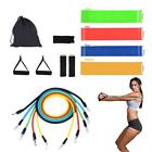 5pcs /15pcs Resistance Band Set Yoga Pilates Exercise Fitness Tube Workout