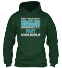 Great Dad And Pilot Job Scare S - I Am A Nothing Scares Standard College Hoodie