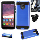 Phone Case For Alcatel TCL LX A502DL Magnetic Car Mount Metal Plate Cover