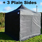 BLACK Heavy Duty SHOWSTYLE® Commercial Grade Gazebo, pop up 2.5m x 2.5m