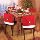 2Pcs Christmas Chair Back Cover decoracion Santa Clause Red Hat Christmas Decor
